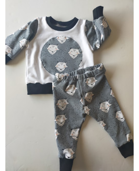 CONJUNTO Zorrito gris 3-6 meses